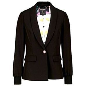 Ted Baker Shawl Lapel Woven Back Bazer